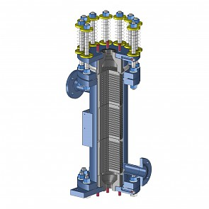 Block heat exchangers