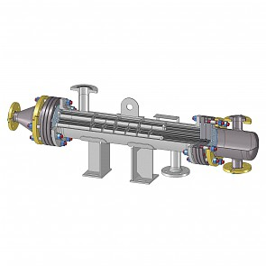 Silicon carbide shell and tube heat exchangers Series SR